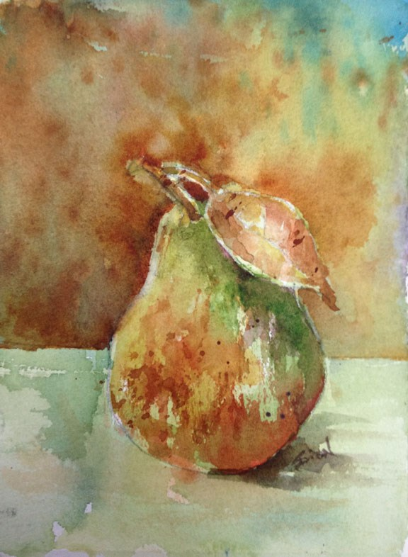 """Pear Study 3"" original fine art by Sue Dion"
