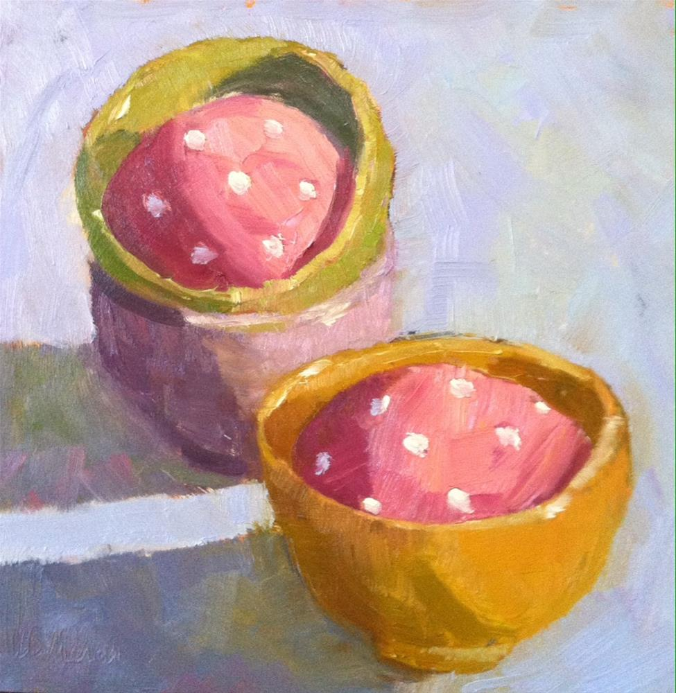 """Polka Dotted Eggs"" original fine art by Katharine March"