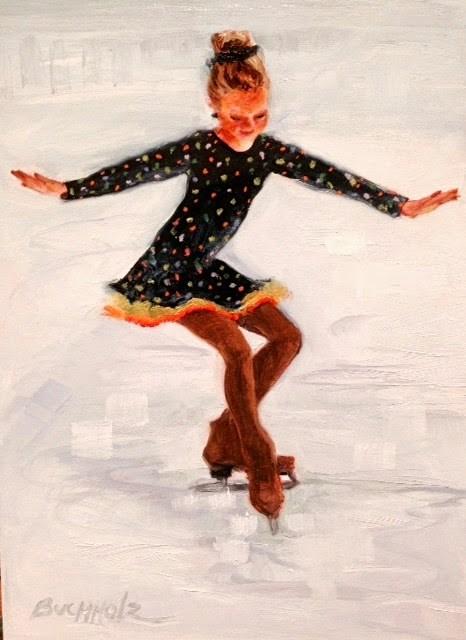 """Ice Ballet"" original fine art by Terri Buchholz"