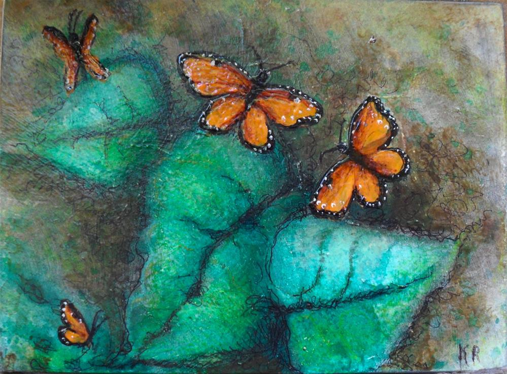 """Four Orange"" original fine art by Karen Roncari"