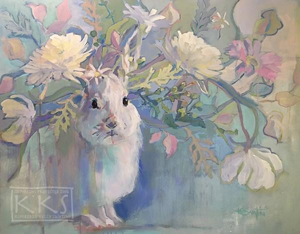 """Snowshoe"" original fine art by Kimberly Santini"