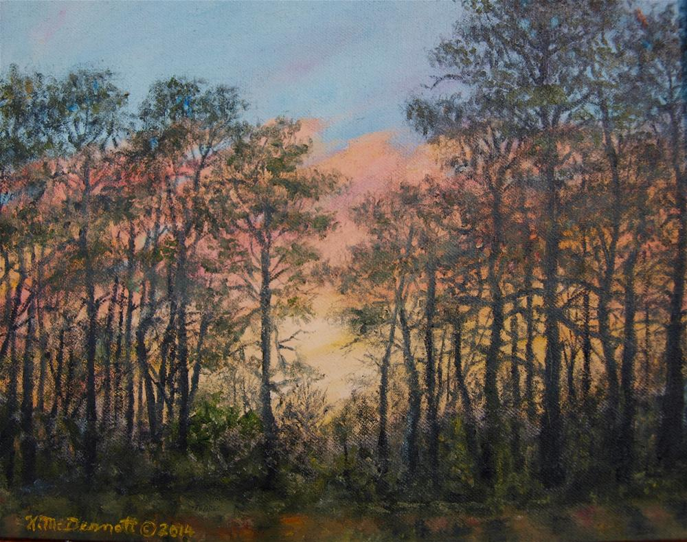 """Border Pines"" original fine art by Kathleen McDermott"