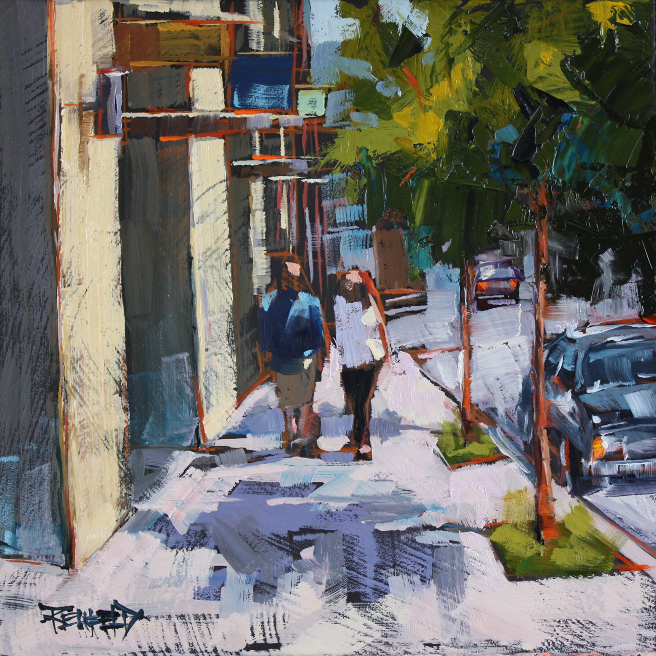 """Oak Street, Hood River Oregon"" original fine art by Cathleen Rehfeld"