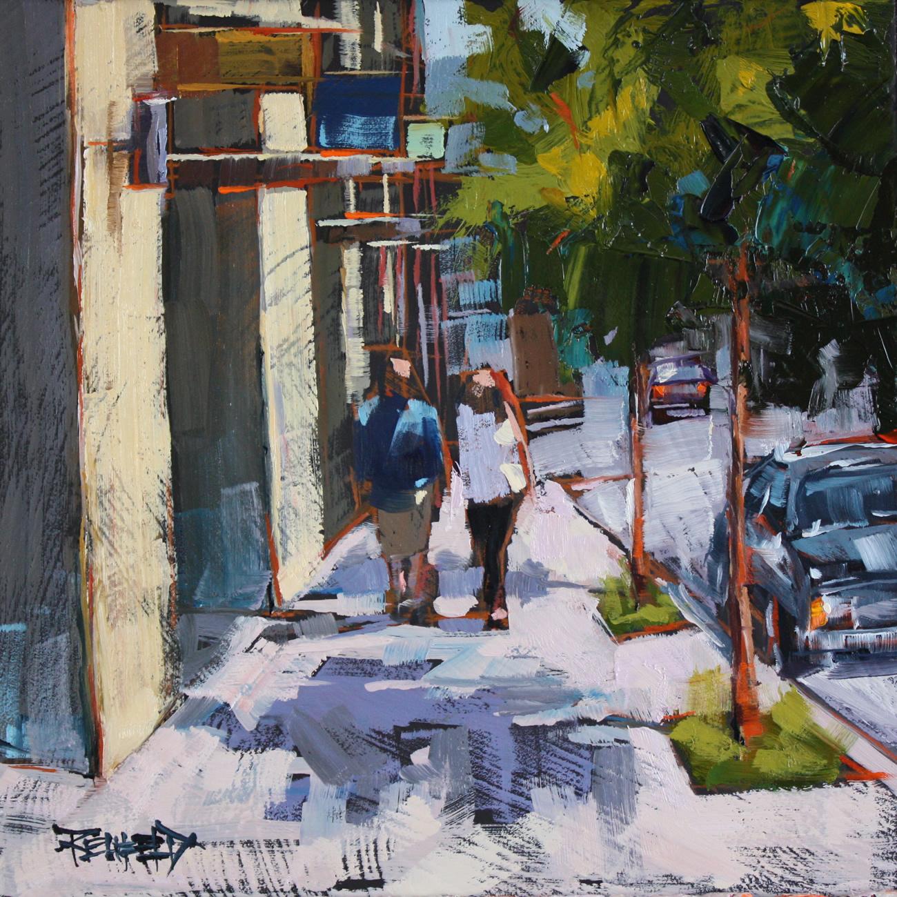 Oak Street, Hood River Oregon original fine art by Cathleen Rehfeld