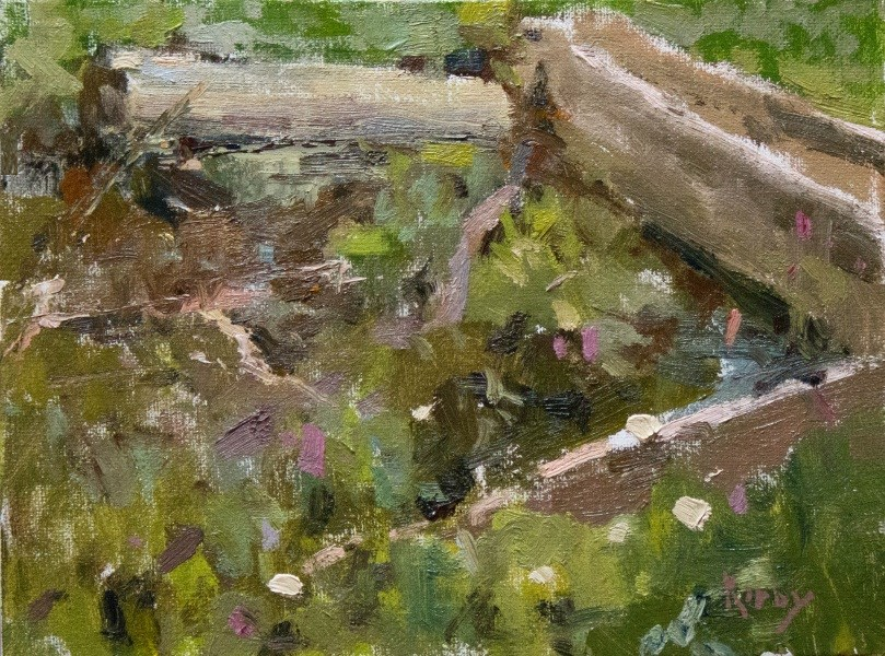 """Rubbish Pile"" original fine art by Randall Cogburn"