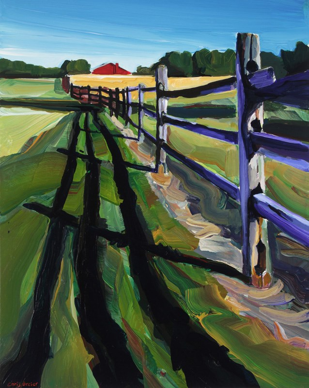 """Red Barn"" original fine art by Chris  Breier"