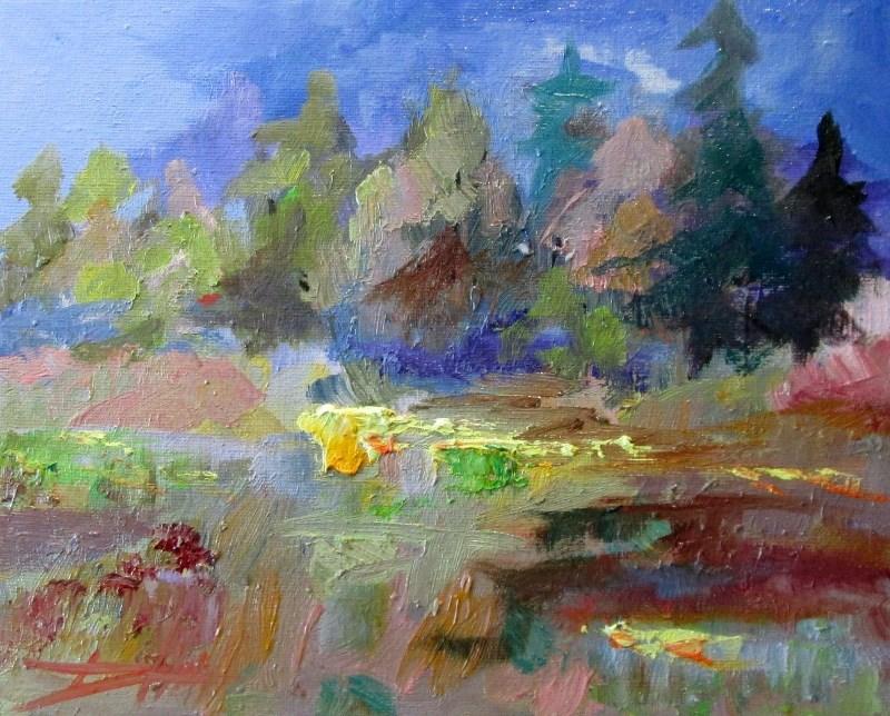 """Landscape No 15"" original fine art by Delilah Smith"