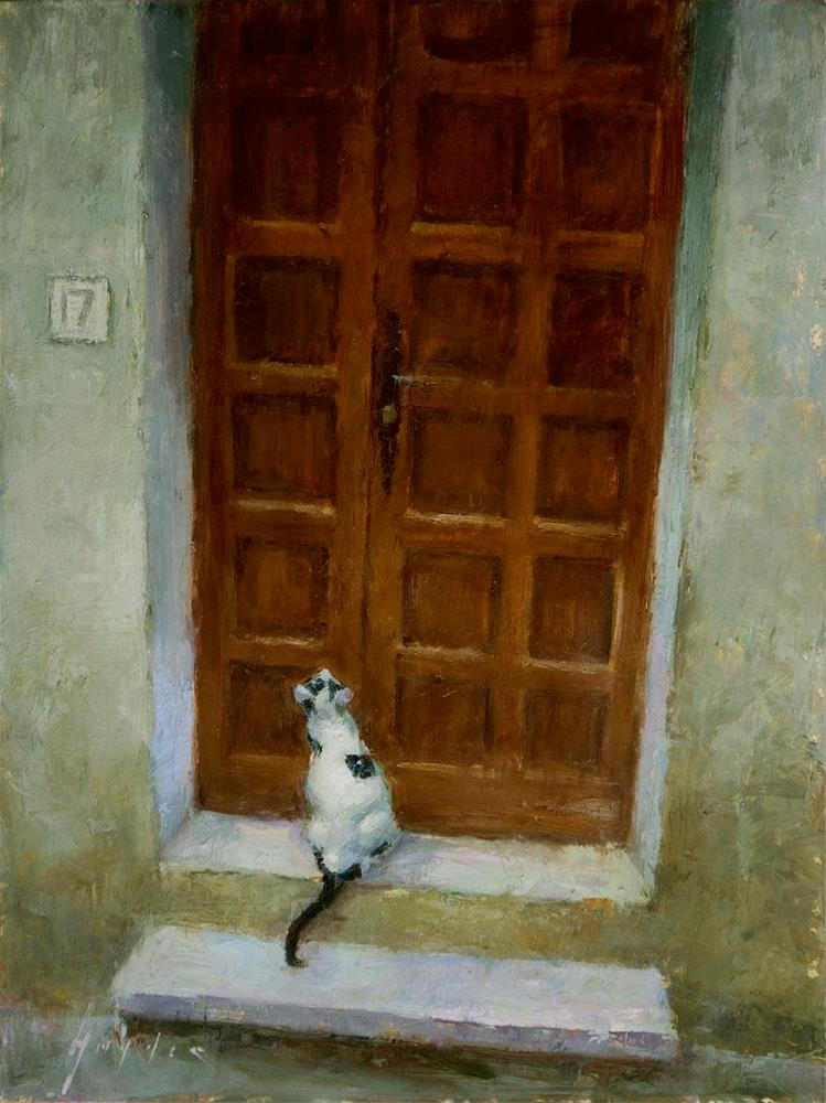 """Ouvrez La Porte"" original fine art by Julie Snyder"