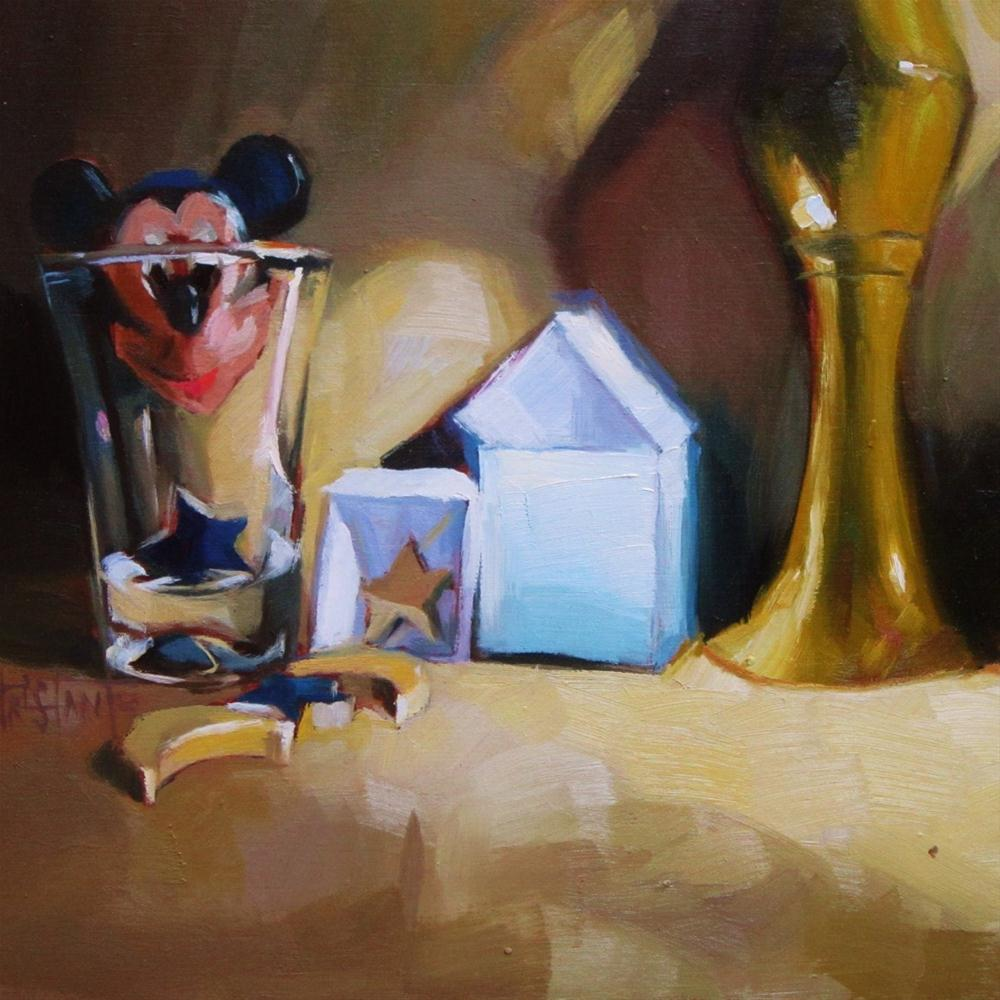 """Mickey in the glass"" original fine art by Víctor Tristante"
