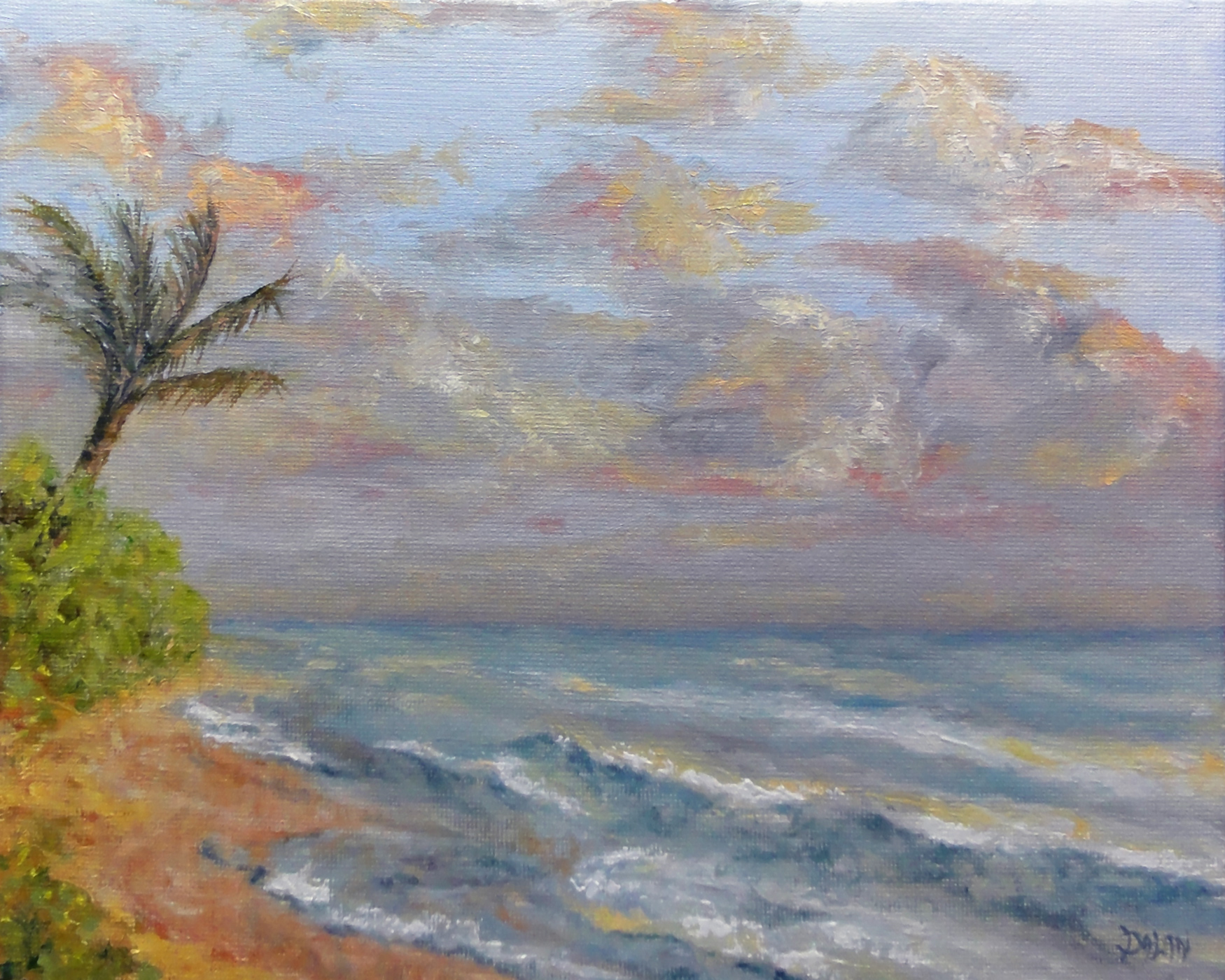 """Sunrise In Laie Hawaii"" original fine art by Dalan Wells"