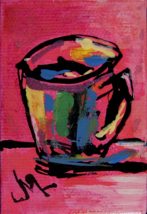 """Crazy Cup"" original fine art by - JanettMarie"