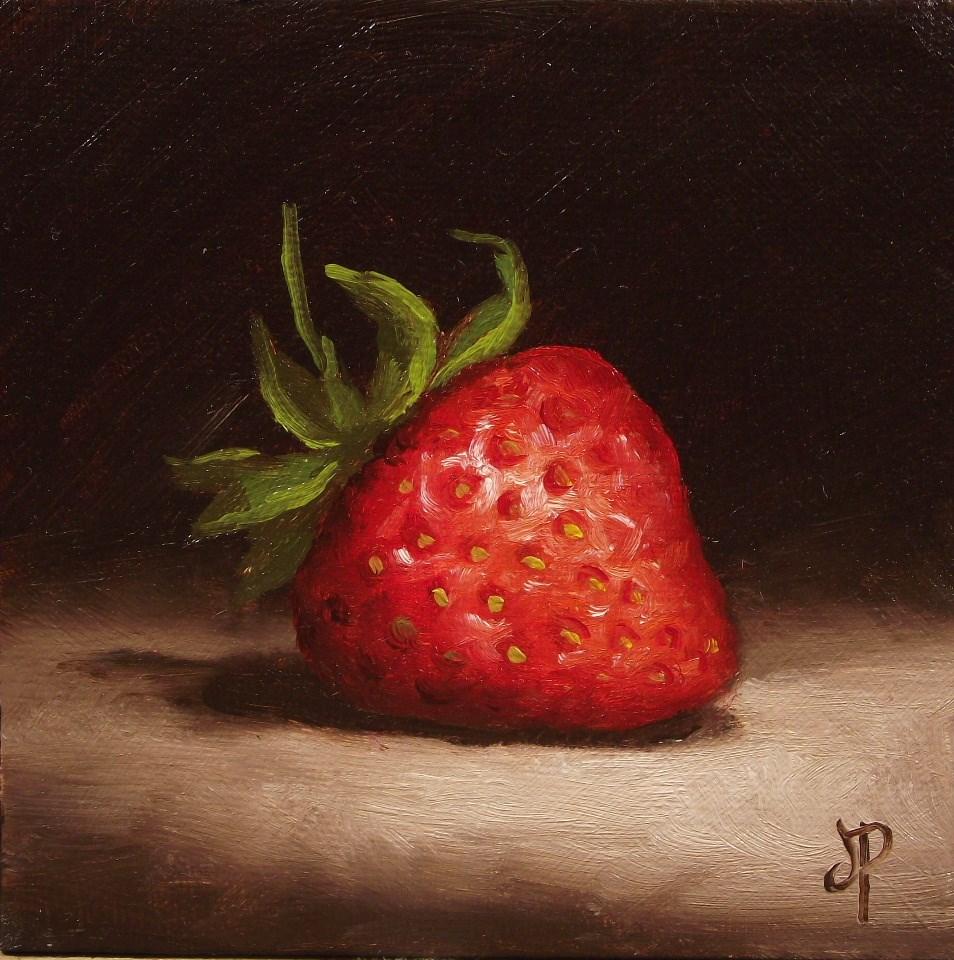 """Little Strawberry #5"" original fine art by Jane Palmer"
