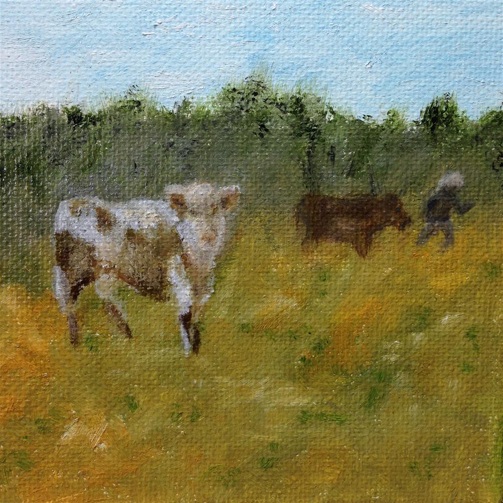 """To the Barn"" original fine art by Joy McMicken"