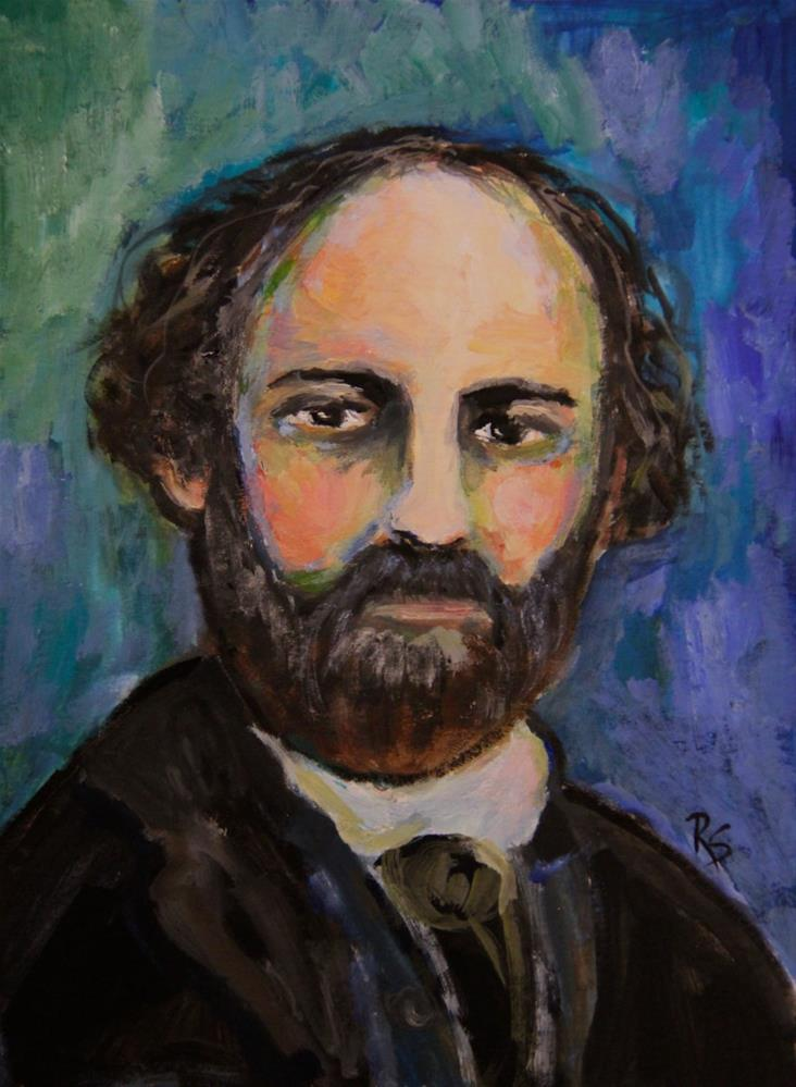 """Cezanne, The Painter"" original fine art by Roberta Schmidt"