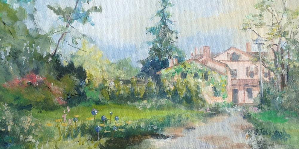 """Lorenzo Gardens"" original fine art by Susan Johnson"