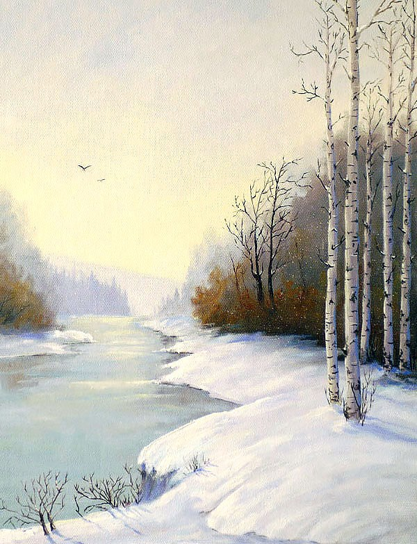 """Late Winter Dawn"" original fine art by Bonnie Bowne"