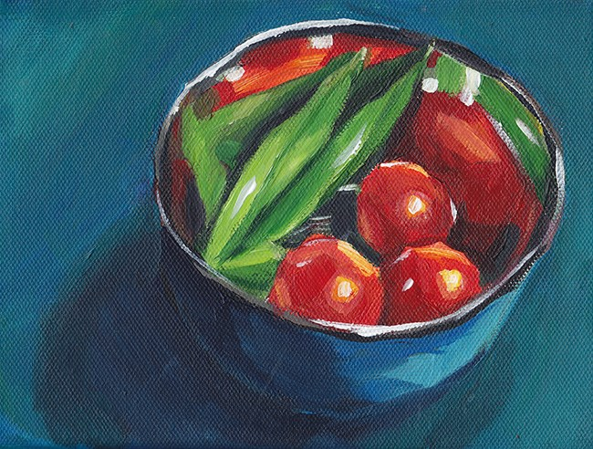 """In The Bowl"" original fine art by J M Needham"