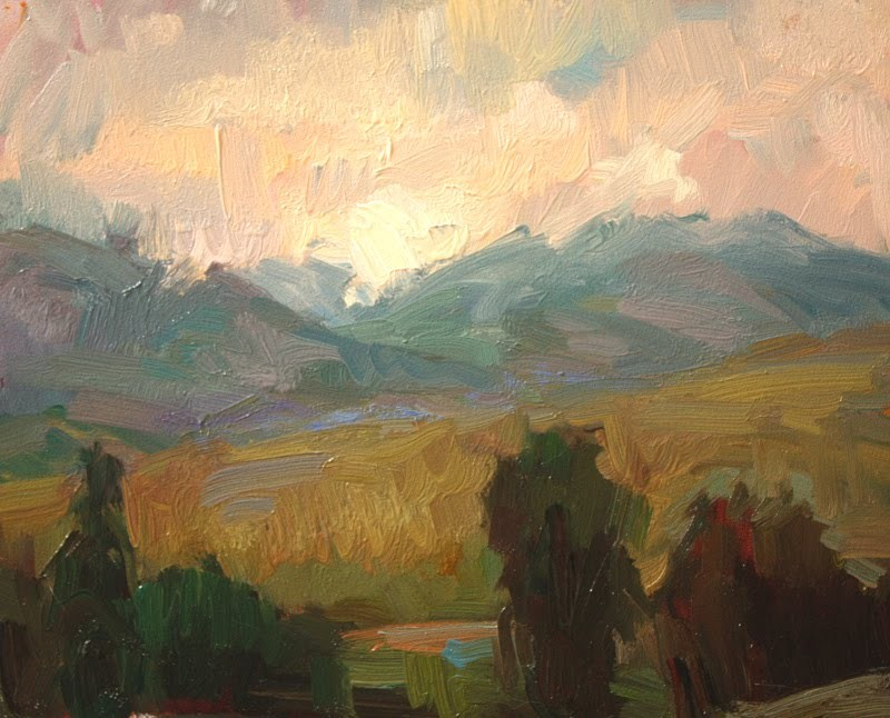 """Storm over Methow"" original fine art by Kathryn Townsend"
