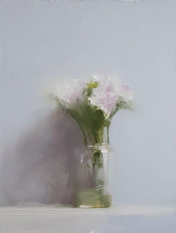 """Flower Jar"" original fine art by Neil Carroll"