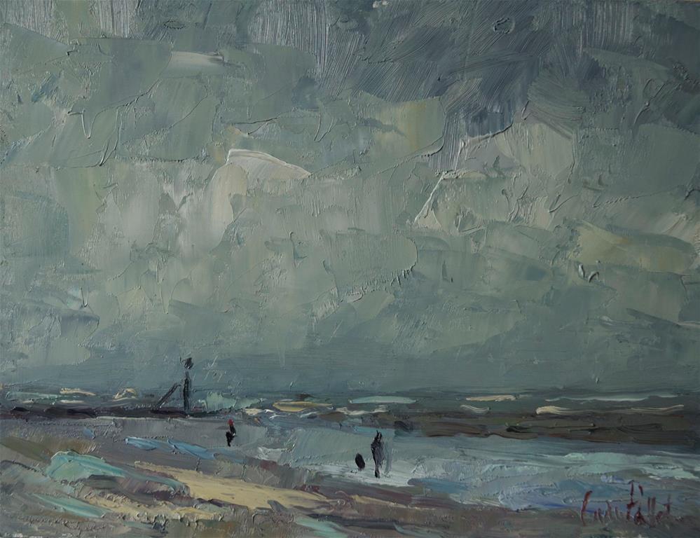 """""""'Littlehampton Beach'"""" original fine art by Andre Pallat"""