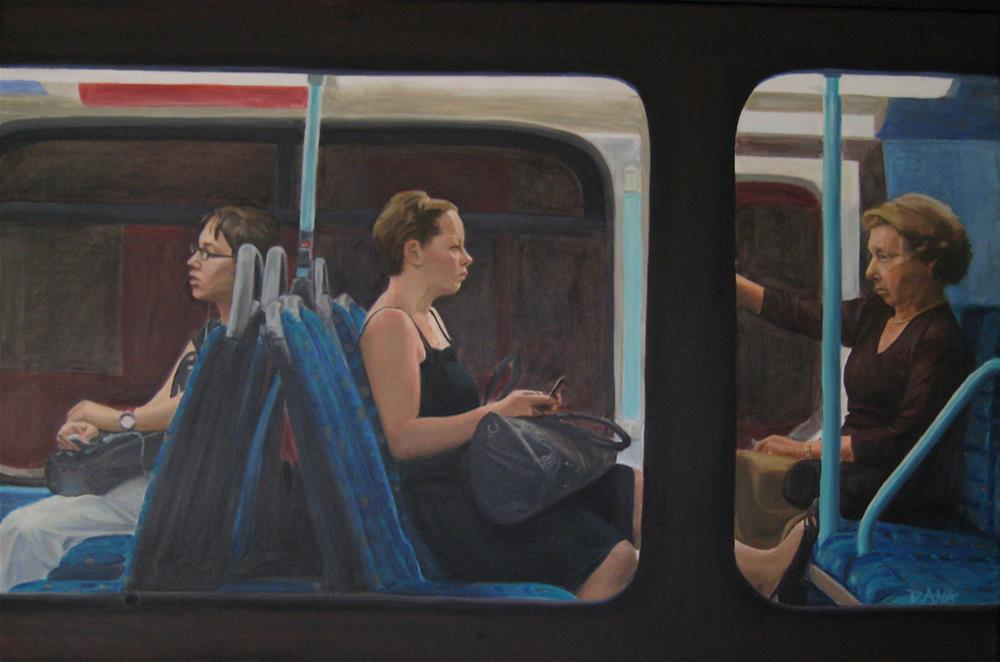 """On the Bus"" original fine art by Dana Lombardo"