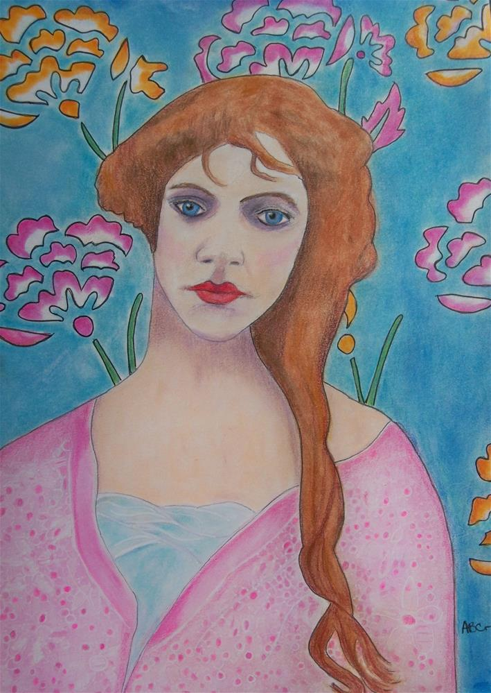 """Abigail"" original fine art by Arlene Crafton"