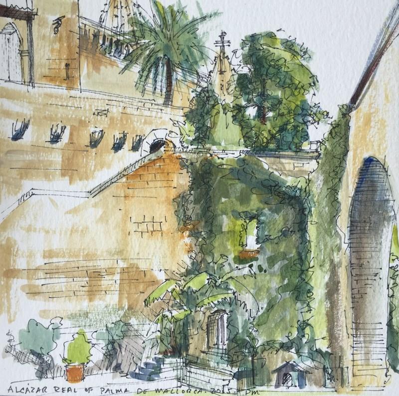 """""""Ciao, Bella Roma - Alcazar Real, Palma de Mallorca"""" original fine art by Patti McNutt"""