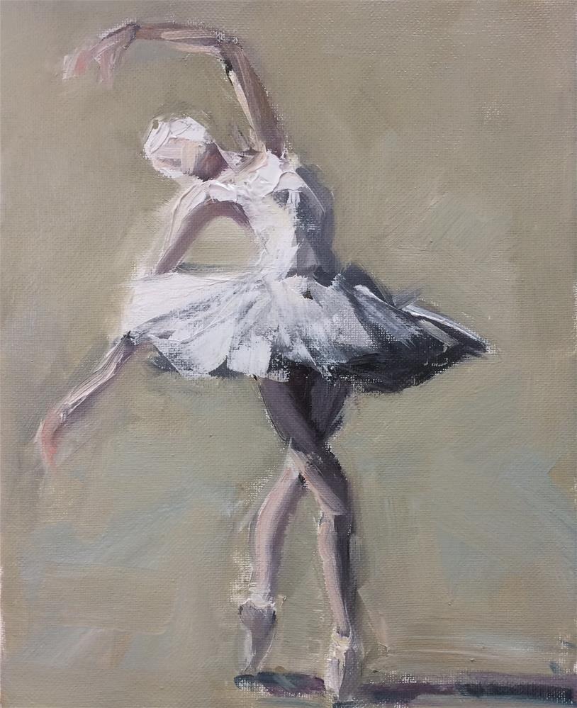 """White Swan"" original fine art by Naomi Bautista"