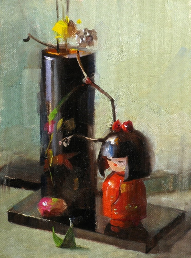 """Ikebana Doll"" original fine art by Qiang Huang"