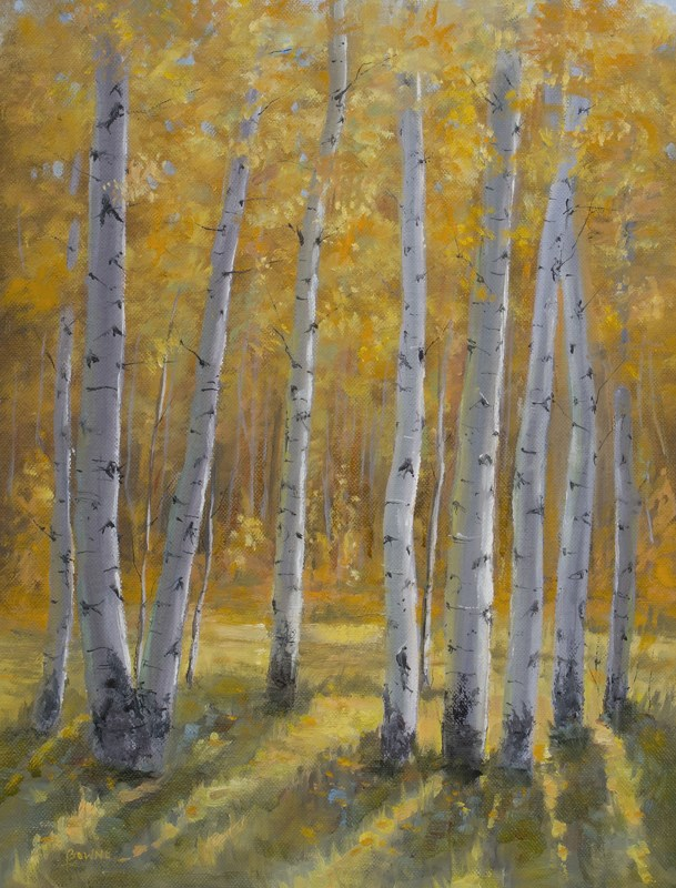 """Aspen Glow"" original fine art by Bonnie Bowne"