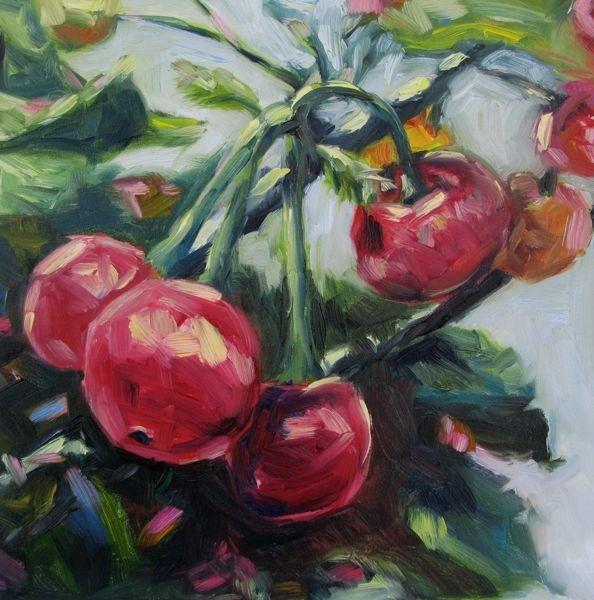 """Terry's Cherries"" original fine art by Mb Warner"