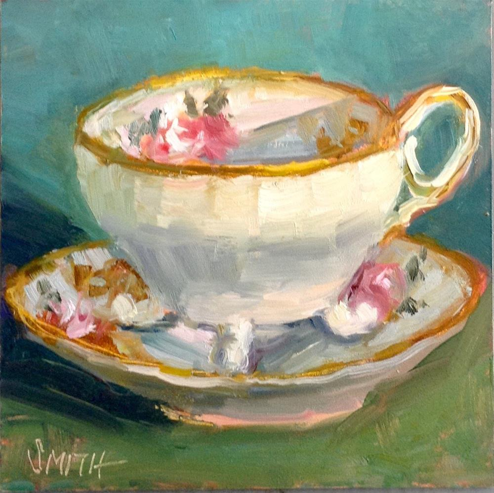 """Grandma's Teacup"" original fine art by Barbie Smith"