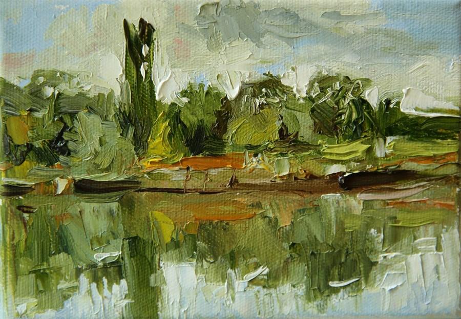 """Petersham Meadows"" original fine art by Jethro Knight"