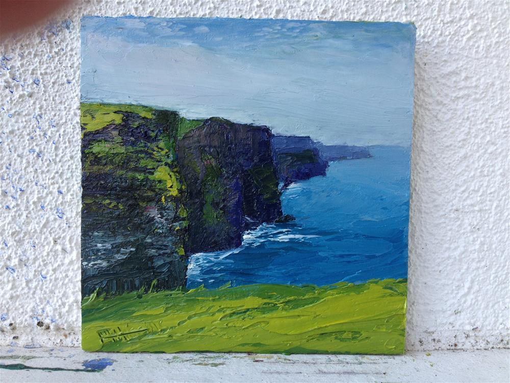 """Cliffs of Moher #2"" original fine art by Marie O' Higgins"