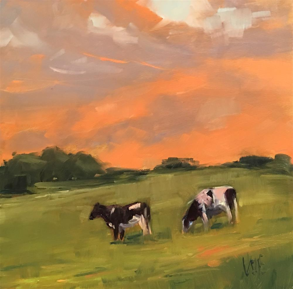 """#352 Evening Stroll"" original fine art by Patty Voje"