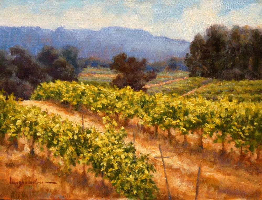 """HILLSIDE VINES"" original fine art by Dj Lanzendorfer"
