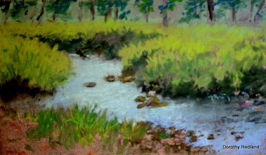 """Lets go fishin!"" original fine art by Dorothy Redland"