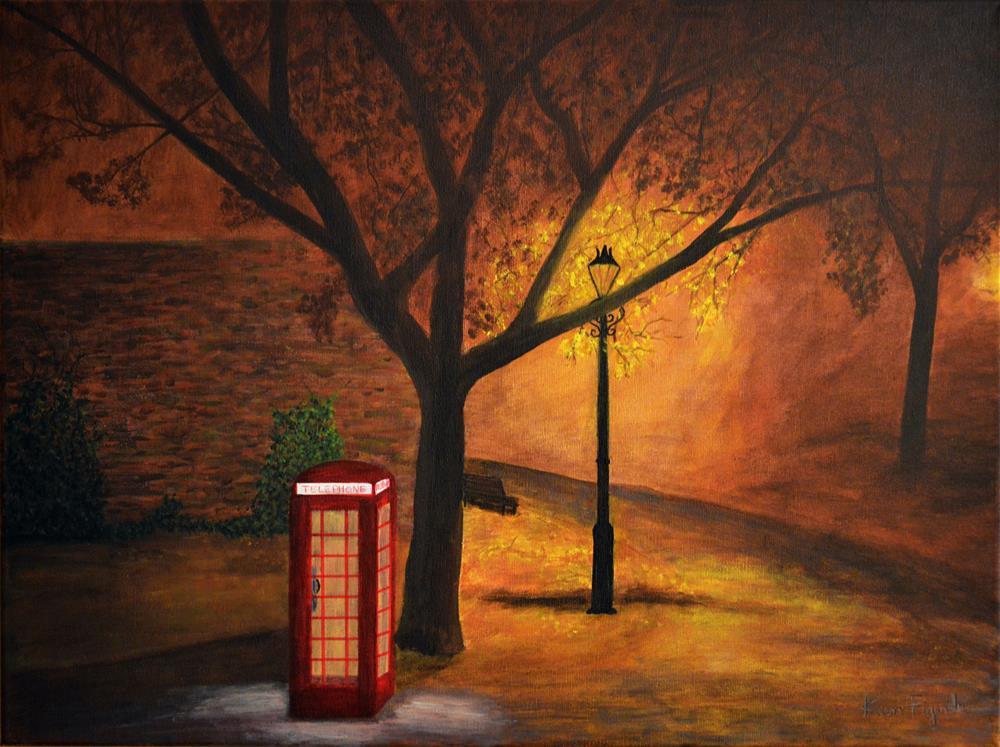 """London Gold"" original fine art by Ken Figurski"