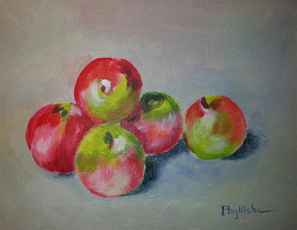 """Happy Apples"" original fine art by Phyllisha Hamrick"