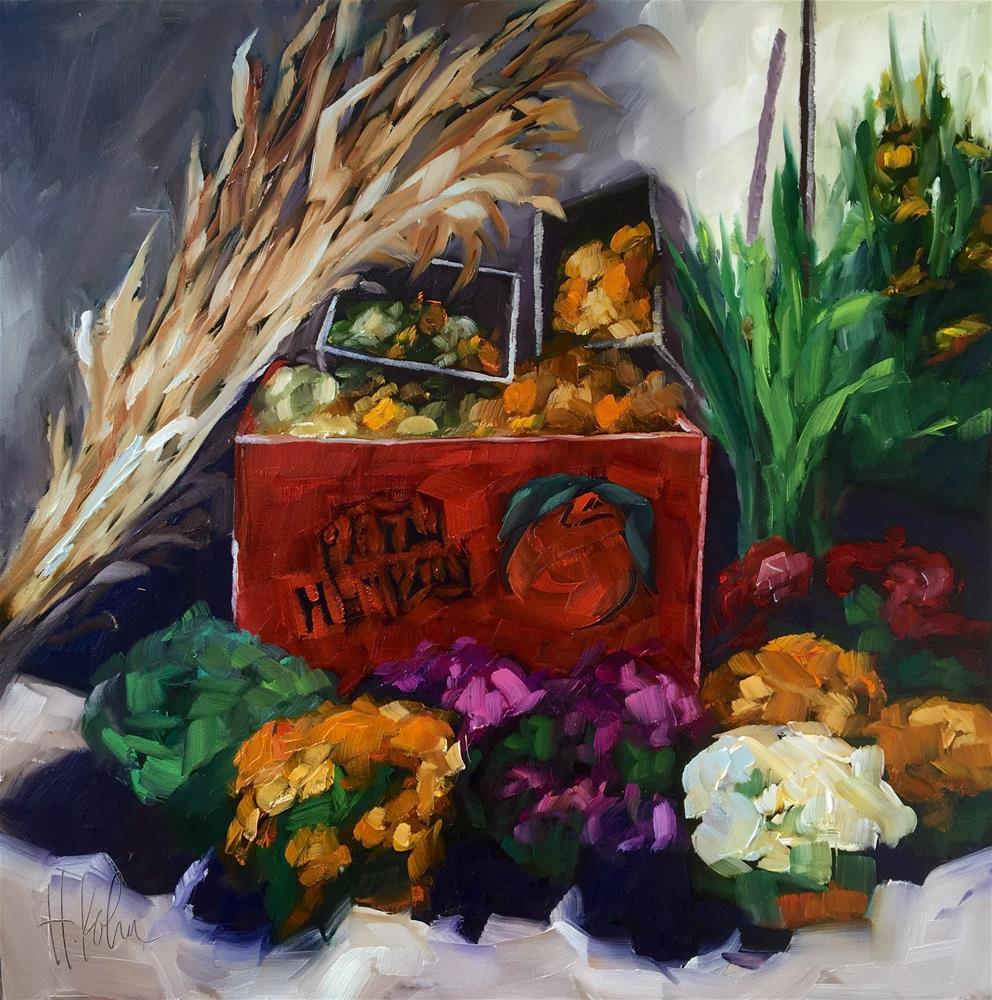 """Autumn at Pepin Heights"" original fine art by Hallie Kohn"