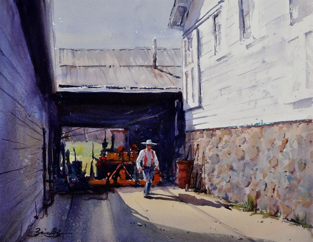 """Working Barree Forge"" original fine art by Brienne M Brown"
