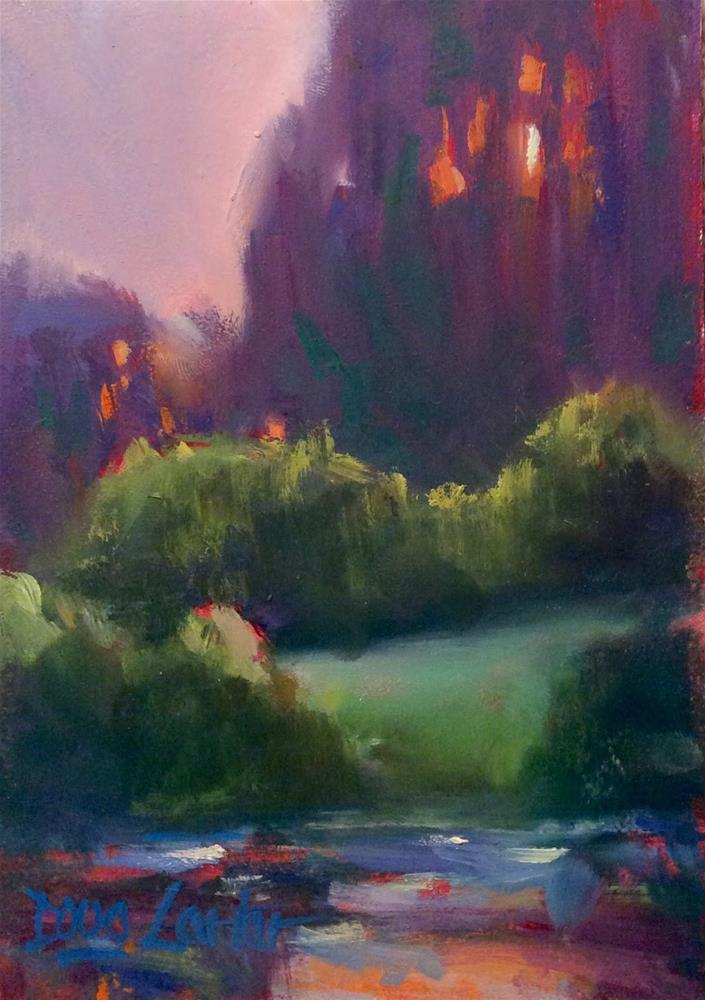 """ PURPLE VALE "" original fine art by Doug Carter"