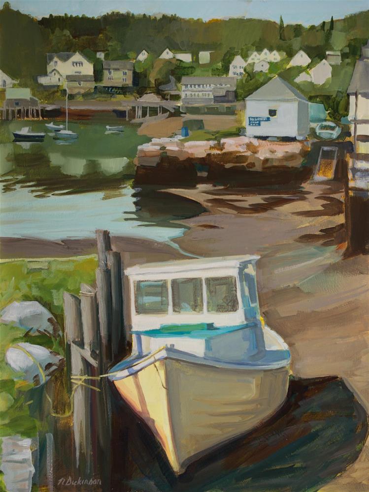"""Dockside"" original fine art by Nat Dickinson"
