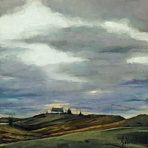 """""""Lincoln Highway, Colorado/Nebraska Border"""" original fine art by Karin Jurick"""
