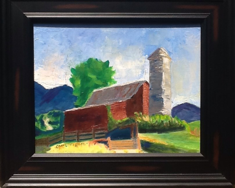 """Barn in the Smokies"" original fine art by Charlotte Bankhead Hedrick"