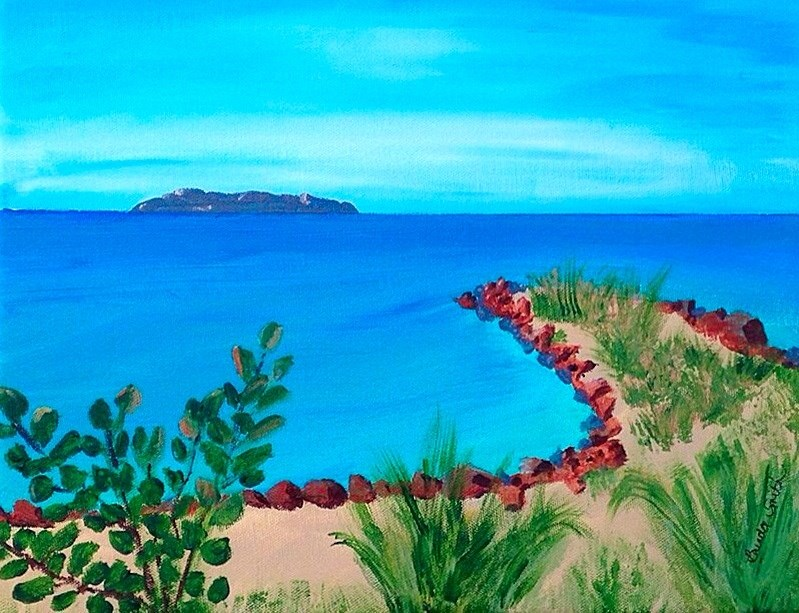 """Great Stirrup Cay - East End"" original fine art by Brenda Smith"