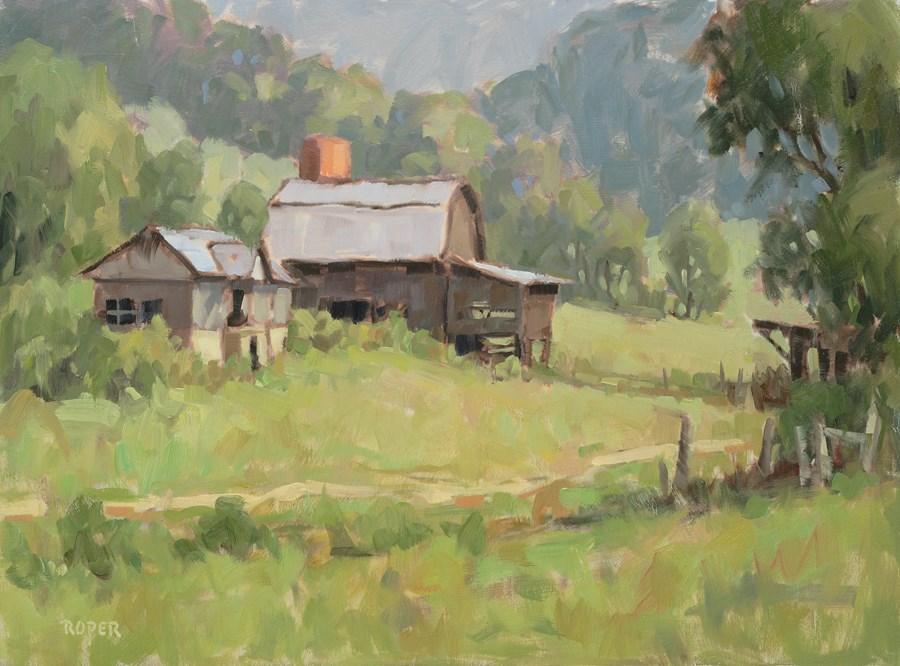 """DAY 1:  Kirkpatrick's Valley"" original fine art by Stuart Roper"