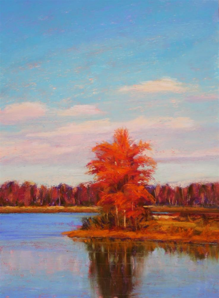 """Autumn Reflections"" original fine art by Sharon Lewis"