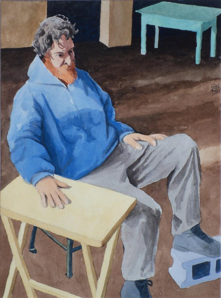 """Sitting Don"" original fine art by Greg Arens"