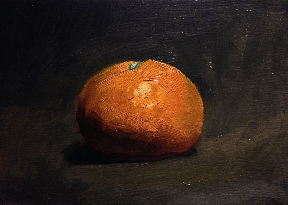"""Turning an Orange"" original fine art by Chris Beaven"